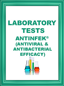 ANTINFEK TEST ANTIVIRAL AND ANTIBACTERIAL EFFICACY ICON
