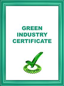 GREEN INDUSTRY CERTIFICATE FOLDER