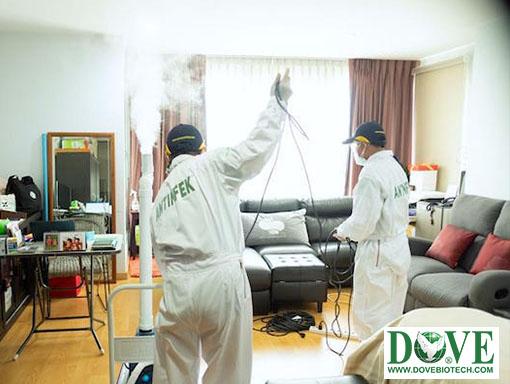Antinfek sanitizing service for private condo